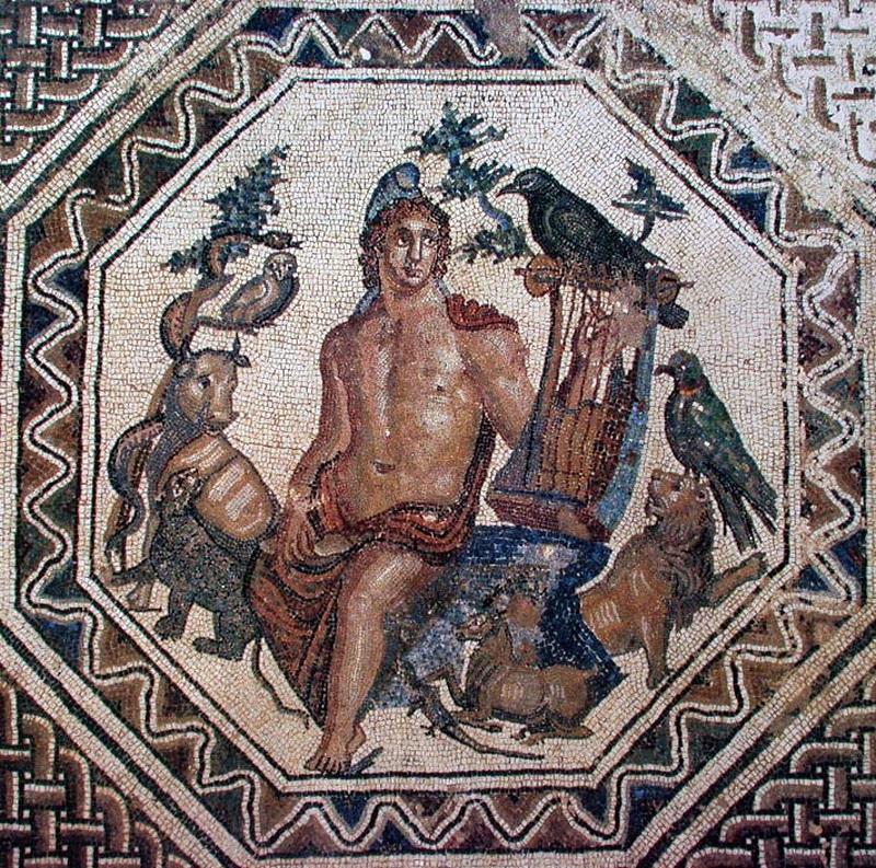 Porto Torres - Palazzo Re Barbaro - Mosaico di Orfeo che suona la lira